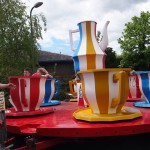 A tea cup ride for little children